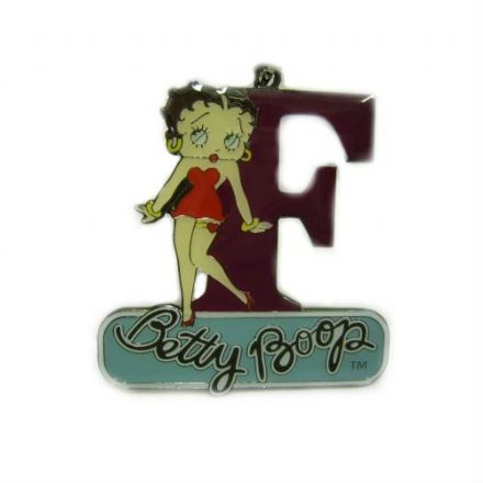 Letter F Keyring, Betty Boop